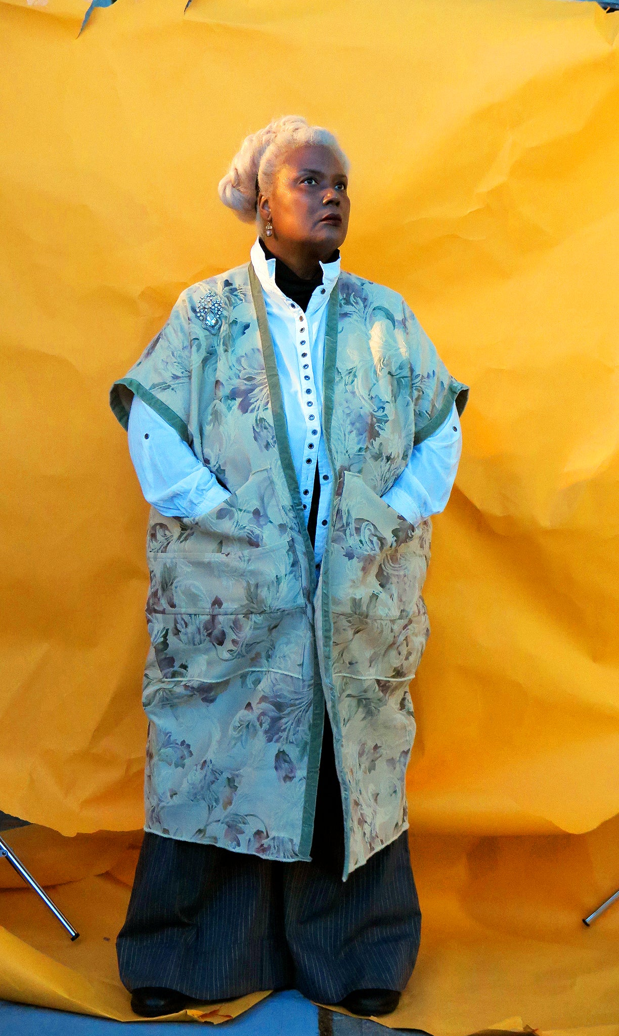 Flowered Porcelain Brocade MALC Coat