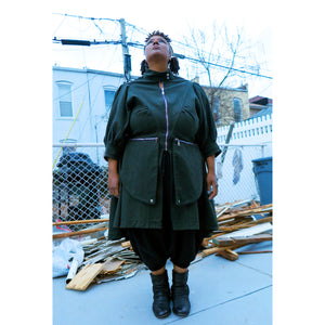 Army Green Sweep Coat