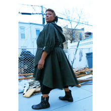 Load image into Gallery viewer, Army Green Sweep Coat