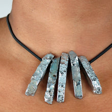 Load image into Gallery viewer, Silver Titanium Crystal Necklace/Bracelet