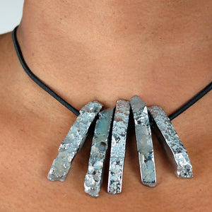 Silver Titanium Crystal Necklace/Bracelet