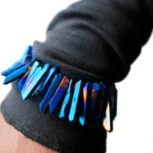 Load image into Gallery viewer, ELECTRIC BLUE Titanium Crystal Bracelet
