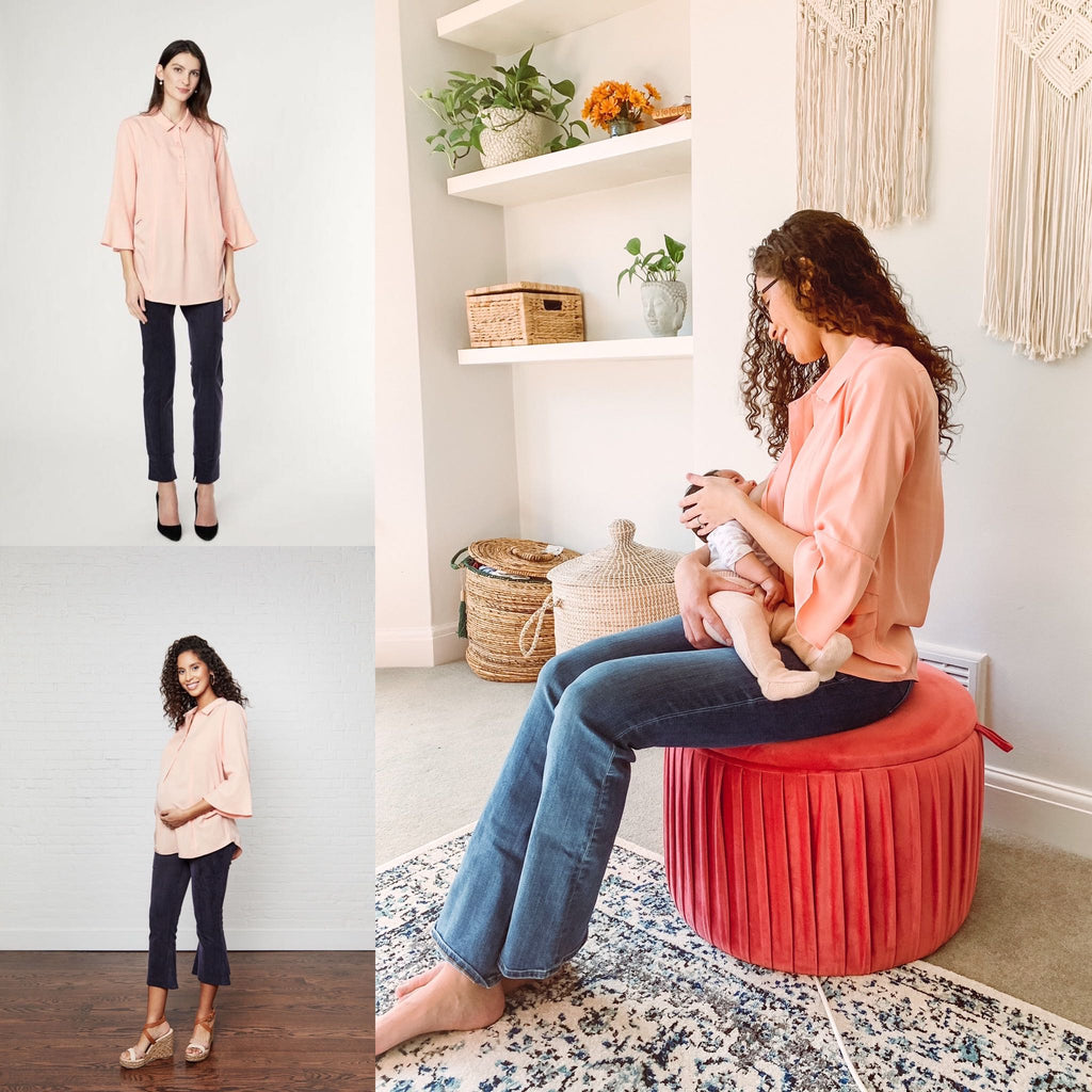 Olivia Shirt: Maternity workwear perfect for pumping and nursing moms [On Sale] $140