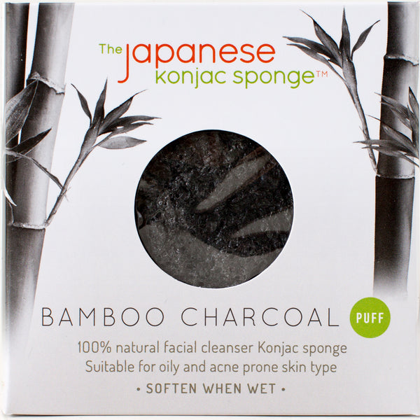 Konjac Sponge Japanese Bamboo Charcoal  Free Shipping in USA