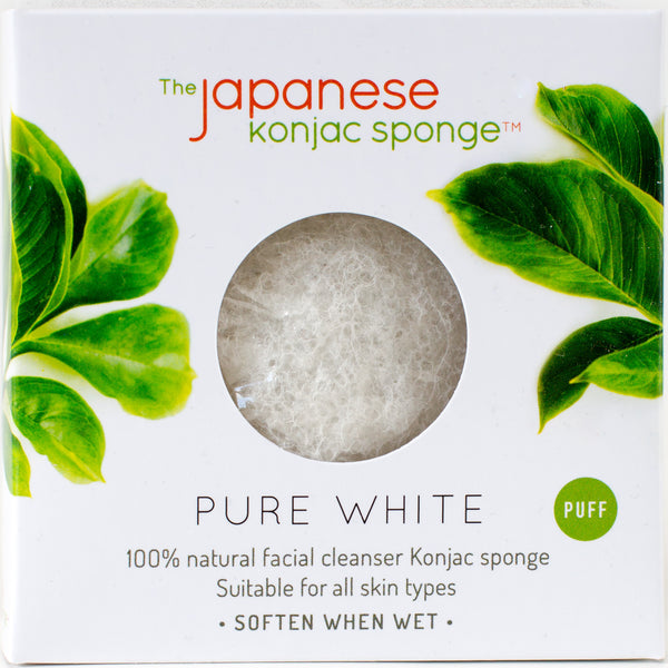 White Konjac Puff