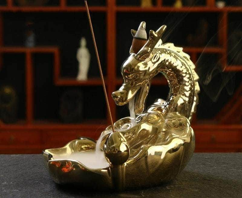 Incense Waterfall Golden Dragon Backflow Incense
