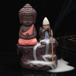 Incense Waterfall Red Little Monk Censer