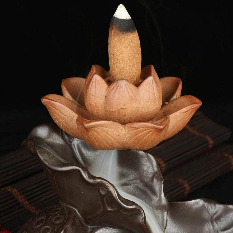 Incense Waterfall Lotus Waterfall Lotus Waterfall Incense Burner