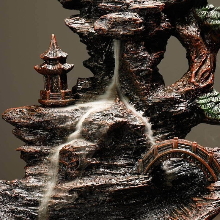 Resin Mountain Incense Waterfall