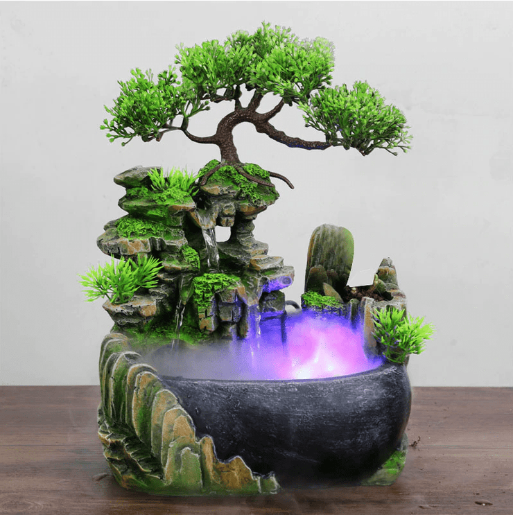 Incense waterfall Zen Forest Water Fountain