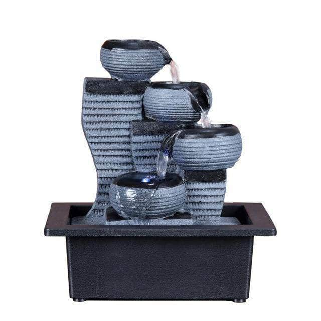 Rock Falls Tabletop Fountain With LED - Incense Waterfall