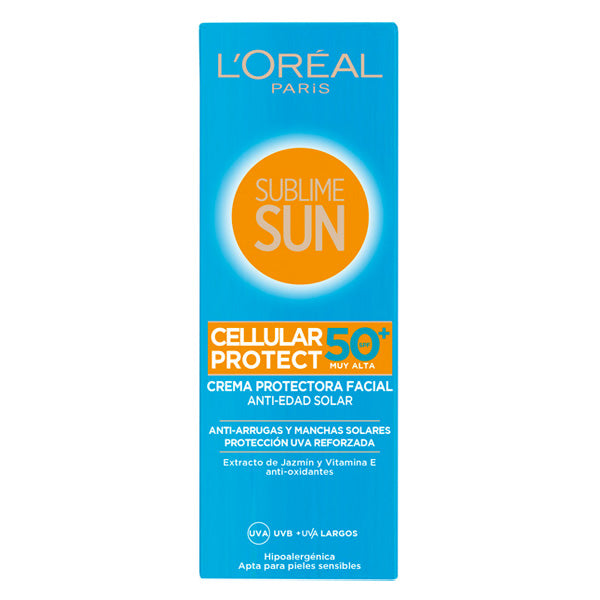 Zonnebrand crème Sublime Sun L'Oreal Make Up Spf 50 (75 ml)