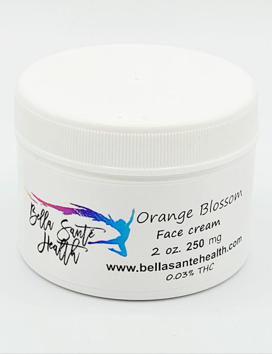 Bella Sante CBD Face Cream Orange Blossom | 0-250mg CBD - Bella Sante' CBD Beauty & Wellness