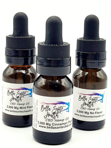 Bella Sante Hemp CBD Oil | CBD Drops | Cinnamon, Mint or No Flavor | 500-6000mg CBD - Bella Sante' CBD Beauty & Wellness