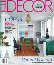 ELLE DECOR Magazine cover with article on Fisher Blacksmithing gardening tools