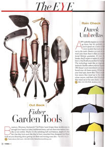 Forbes Life magazine with Fisher Garden Tools article