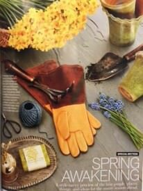 Veranda Magazine Cover with Fisher Blacksmithing featured garden tools