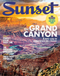 Sunset Magazine showing off hand forged tools