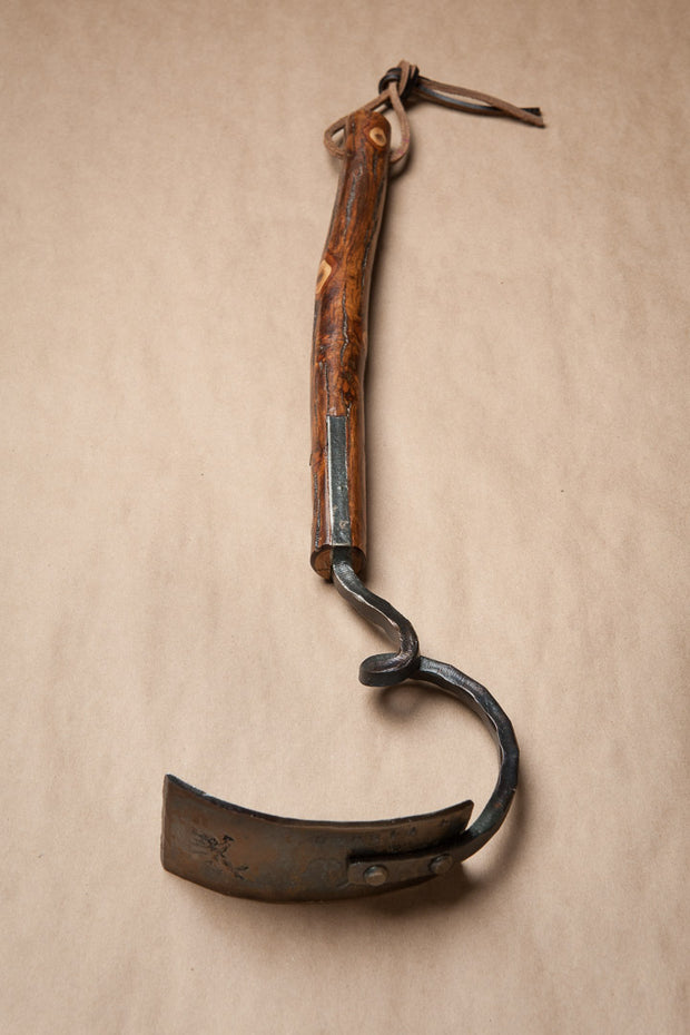 Shagbark Hickory Handle Square Garden Hoe