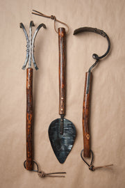 Shagbark Hickory Handle Tool Set | Set of Three