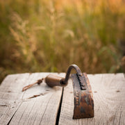 Handcrafted Garden Hoe | Square Blade with Handturned Black Walnut Handle