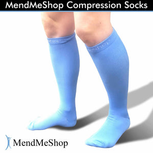 Compression Sock Knee Length Small Pale Blue