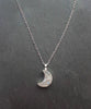 Sparkly Crystal Druzy Moon Pendant Necklace