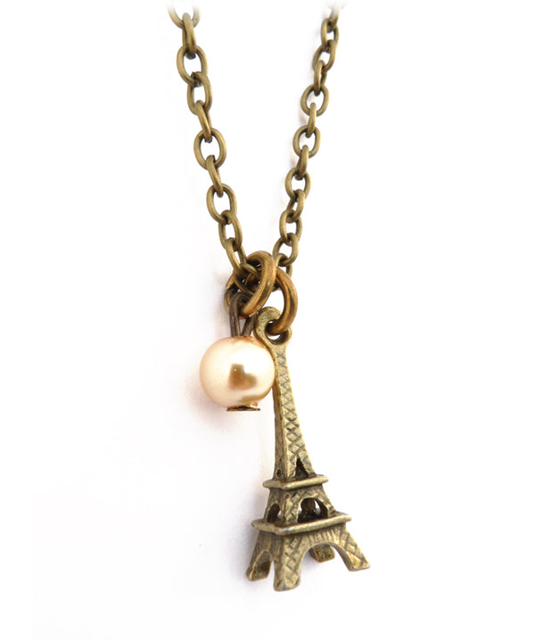Vintage I Love Paris Charm Necklace