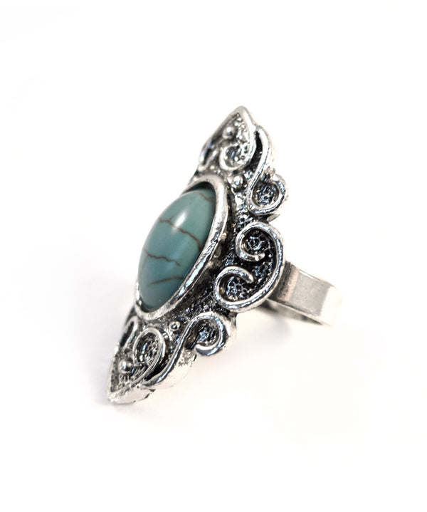 Statement Turquoise Stone Armour Ring