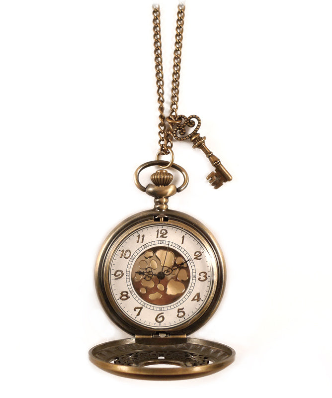 Vintage Style Ornate Pocket Watch Necklace