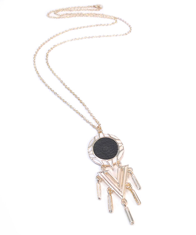 Serena Geometric Dreamcatcher Long Necklace