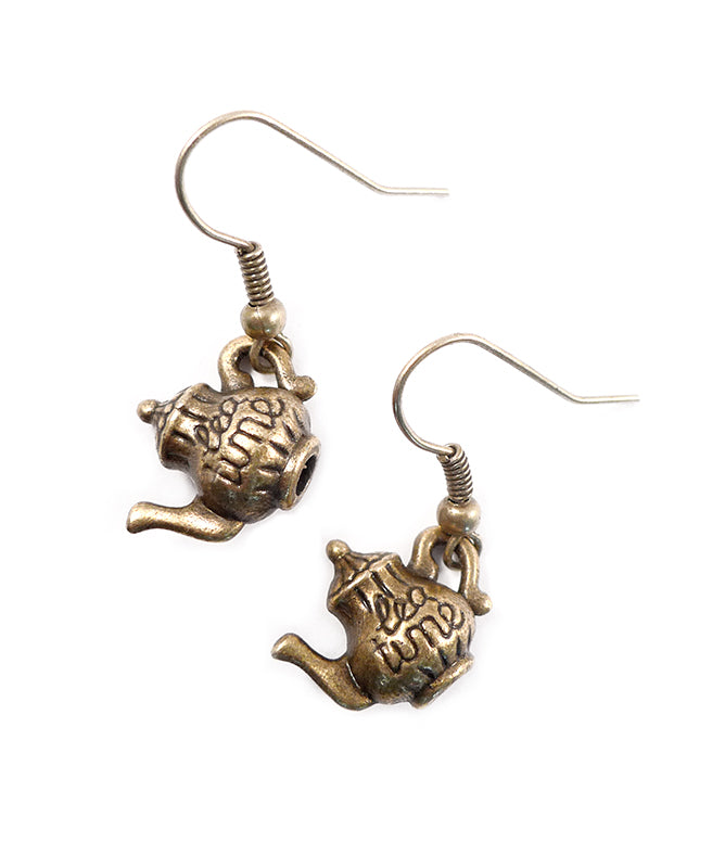 Mini Alice in Wonderland Teapot Charm Earrings