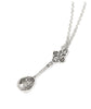 Silver Alice in Wonderland Tea Spoon Necklace
