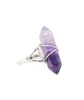 Amethyst Crystal Point Quartz Ring