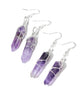 Tibetan Amethyst Crystal Quartz Earrings