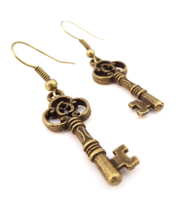 Grandma's Antique Key Earrings