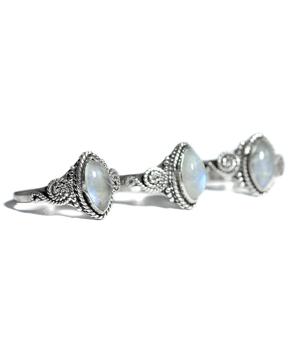 Astral Healing Moonstone Sterling Silver Ring