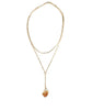 Gold Citrine Crystal Layered Chain Necklace
