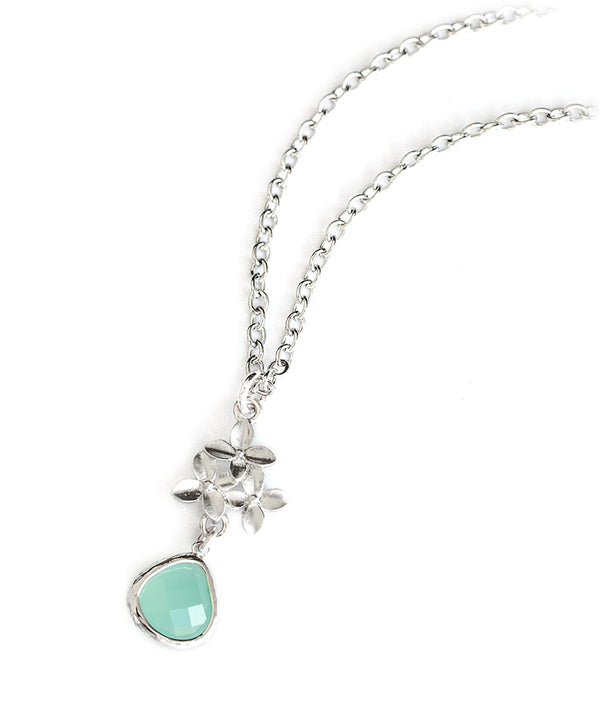Flowers & Lilac or Turquoise Jewel Premium Necklace