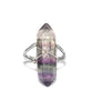 Fluorite Crystal Point Quartz Ring