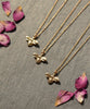 Gold Plated Bumble Bee Charm Necklace