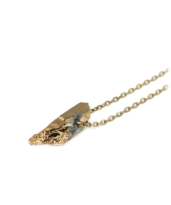 Gold Luxe Bullet Short Pendant Necklace