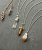 Golden Tiger Eye Crystal Bullet Necklace