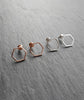 Rose Gold Hexagon Stud Earrings