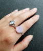 Lilac Unicorn Tear Druzy Crystal Ring