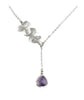 Orchid Trio & Lilac Jewel Premium Necklace