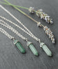 Aventurine Pastel Green Crystal Quartz Necklace