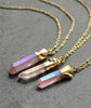 Pink Angel Aura Healing Quartz Necklace