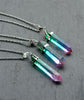 Rainbow Gradual Ombre Quartz Crystal Necklace