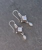Aurora Rainbow Moonstone Sterling Silver Drop Earrings